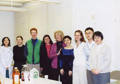 Estela Olevsky with piano students at the University of Massachusetts